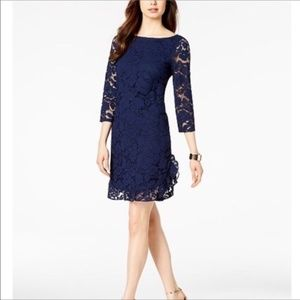 Vince Camuto ruffled lace dress NWT
